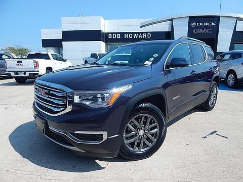 Pre-Owned 2018 GMC Acadia SLT AWD | BOB HOWARD BUICK GMC 405.936.8800 | HTD LEATHER SEATS | PWR SEAT | KEYLESS | 3RD ROW SEATING